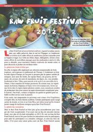 media coverage fruit festival rawfood in andalusia