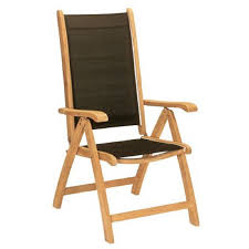 Patio Folding Chair by Shop Hiteak Furniture Black Pearl Natural Blond Teak Folding Patio