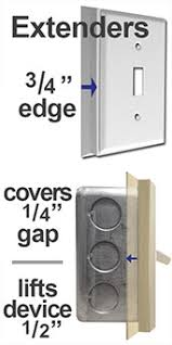 Light Switch Extender Deep Switch Plate Cover Options For Protruding Wall Boxes