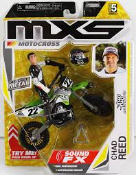 toys r us motocross bikes amazon com mxs motocross sfx bike u0026 rider series 5 chad reed