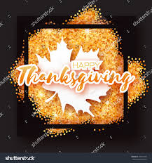 happy thanksgiving glitter happy thanksgiving day greeting card origami stock vector