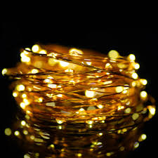 Led Wire String Lights usb powered 5v ip44 christmas micro led copper wire invisible led