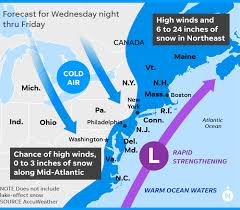 map canada east coast weather bomb cyclone to strike as up east coast