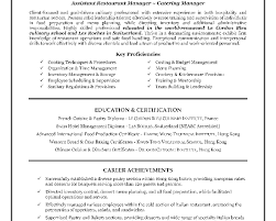 Resume Samples Restaurant Manager by Resume Sample Of Hotel And Restaurant Management Templates