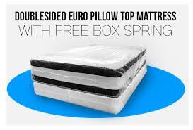 double euro pillow top