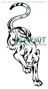 tribal panther design