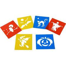halloween stencils halloween stencils set of 6 amazon co uk toys u0026 games