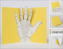 enough said a collection of made gesturing pop up cards