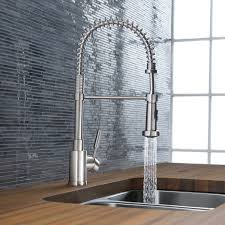 chrome blanco meridian semi professional kitchen faucet single