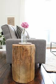 Wood Stump Coffee Table Diy Ombre Stump Side Tables Sugar U0026 Cloth Diy