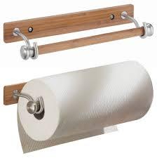 rv paper towel rack holder bamboo wood rv boat kitchen interdesign