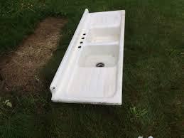 vintage cast iron sink drainboard 1950 vintage american standard double basin double drainboard