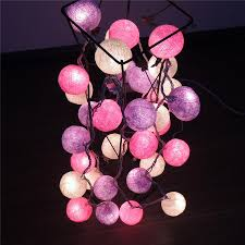 String Ball Lights by Fairy Cotton Ball String Lights 20 35 Cotton Balls For Sale From