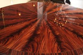 extra large 84 round mahogany dining table american made