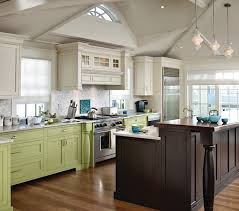 contrasting cabinet color houzz