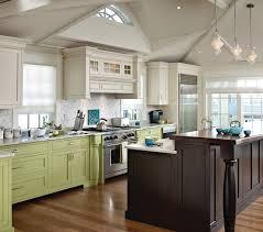 White With Brown Glaze Kitchen by Brown Glazed White Cabinets Houzz