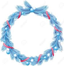 decorative ribbons blue christmas pine wreath with decorative ribbons and balls