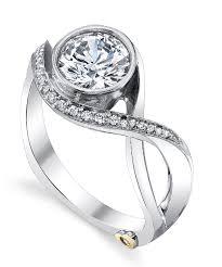 modern wedding rings modern engagement ring by schneider schneider