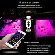 Led Strip For Car Interior Snagshout Minger Car Led Strip Light 4pcs Upgraded Bluetooth