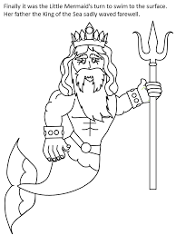 printable mermaid color3b cartoons coloring pages