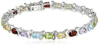multi bracelet images Multi gemstone tennis bracelet in sterling silver jpg