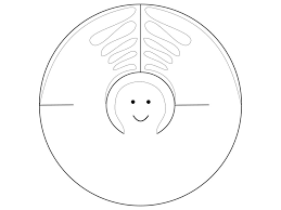 Christmas Tree Ornament Templates The Most Basic Paper Angel 3 Steps