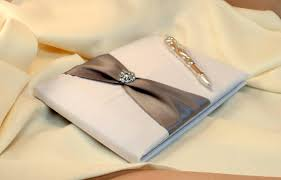 guest book and pen set bridal satin and sash wedding guest book and pen set with