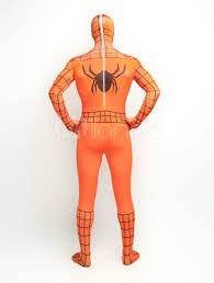 halloween orange spandex lycra bodysuit inspired by spiderman