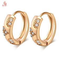 stylish gold earrings new stylish hoop earrings with shing cubic zircon cz crystals