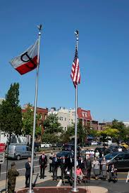 The Flag Of New York The Flag Of The Polish Underground Waves Over New York Polish
