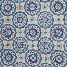 Ikat Home Decor Fabric by Amazon Com Lapis Blue Geometric Suzani Cotton Prints Upholstery