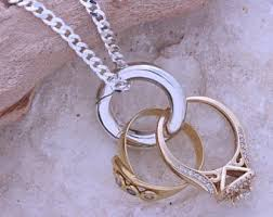 ring charms necklace images Ring holder necklace etsy jpg