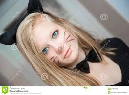 cat costume for halloween kitty in a cat costume stock photo image 44996969