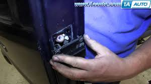 how to replace rear inner door handle 1996 13 chevy express gmc