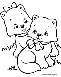 coloring pages kittens coloring