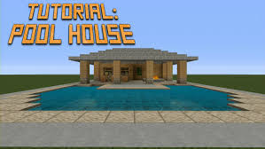 minecraft how to build a pool house tutorial youtube