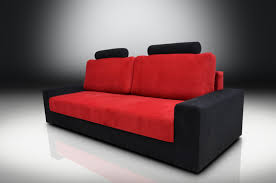 Red And Black Sofa by Bed Chicago Velvet Fabric Red Black