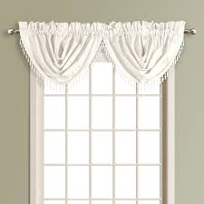 united curtain co anna waterfall valance color white anwfwh