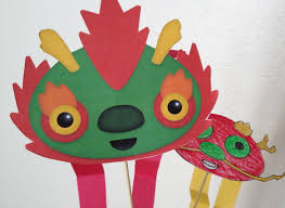 dancing dragon an original kids craft by www piikeastreet com