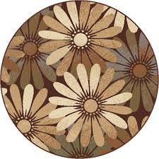 Round Flower Rug by 4000 5x8 Orian Rugs 4000 5x8 Indoor Outdoor Solid Distressed