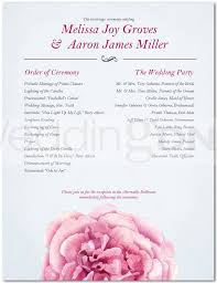 one page wedding program template best photos of one page wedding program wording one page wedding