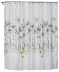 Flower Drop Shower Curtain Shower Curtains Houzz