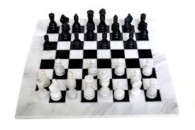 amazon com radicaln black and white chess game handmade marble