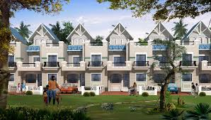 Row Houses Elevation - bluebells row houses and apartments ajanta infrastructure ltd