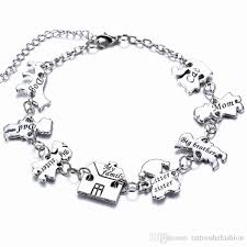 family bracelets 2017 creative whole family members and pets charms bangle