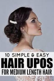 Dressy Hairstyles 10 Easy U0026 Glamorous Updos For Medium Length Hair Casual