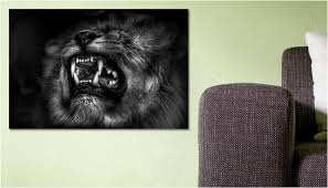tableau portrait noir et blanc tableau photo le lion noir et blanc une toile de abbyss