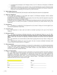 financial confidentiality agreements basic financial