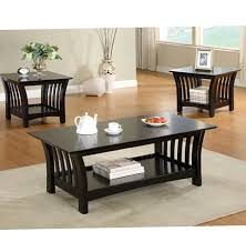 black coffee and end tables 42 black coffee table and end table set dreamfurniturecom 701527