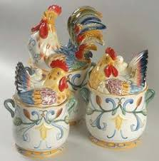 rooster kitchen canisters fitz and floyd ricamo canisters set of 3 canisters pinterest